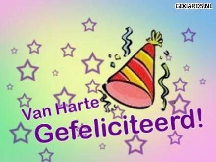 E Cards Op Gocards Nl E Card Verjaardag Van Harte Gefeliciteerd