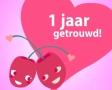 1 jaar getrouwd ecard E cards op GoCards.nl   Jubileumkaarten, jubileum. 1 jaar getrouwd ecard
